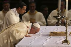 The Roman Catholic Mass begins with the procession. Each member genuflects at the altar, and the priest and deacon kiss the altar in an act of veneration. The Altar of Sacrifice In Roman Catholicis…