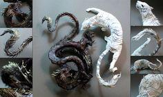 Dragon and White Tiger by creaturesfromel.deviantart.com on @deviantART
