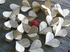 These would be darling made out of sheets of music or old books. Or your favorite book or the words to your song!