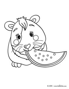 Color this picture of Eating guinea pig coloring page with the colors of your choice. Nice cat drawing for kids. More animals coloring pages on hellokids.com