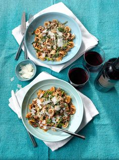 Spicy Lamb Ragu with Orecchiette & Broccoli Rabe.| Rachael Ray magazine