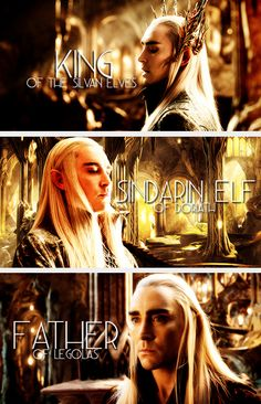 """""""Now of old the name of that forest was Greenwood the Great, and its wide halls and aisles were the haunt of many beasts and of birds of bright song; and there was the realm of King Thranduil under the oak and the beech."""" - The Silmarillion"""