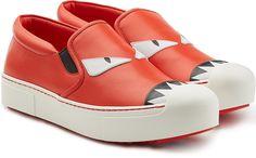 Fendi Leather Slip-On Sneakers - $600.00