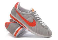Nike Cortez Womens Nylon 365941 061 Grey Orange half off