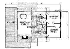 House Plan chp-2197 at COOLhouseplans.com House Plan chp-2197 at COOLhouseplans.com Number of Bedrooms:2 Number of Bathrooms:2.0 Width of House:46 feet Depth of House:38 feet Total Living Area:788 sq. ft.