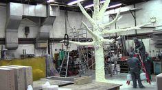 estrustura en varillas forradas con malla alámbrica y cuerto con poliuretano en spray   http://www.homecenter.com.co/homecenter-co/product/201297/Espuma-poliuretano-Topex--500-ml--------