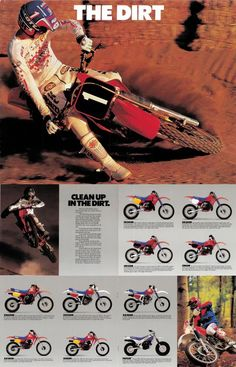 Honda 1987, the CR and XR line.