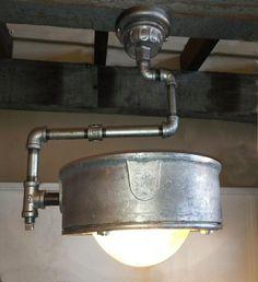 REpurposed industrial ceiling light