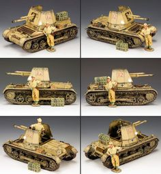 World War II German Afrika Korps Panzerjager 1 Self Propelled Gun set - Made by King and Country Military Miniatures and Models. Factory made, hand assembled, painted and boxed in a padded decorative box. Excellent gift for the enthusiast. Afrika Corps, North African Campaign, Rubber Raincoats, War Thunder, Model Tanks, King And Country, Military Modelling, Military Diorama, Model Airplanes