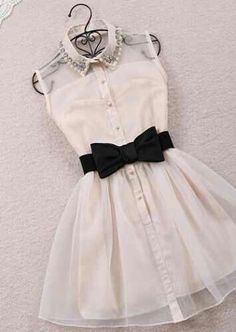 White dress with back tie!!:)