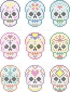 Bildergebnis für cross stitch skull