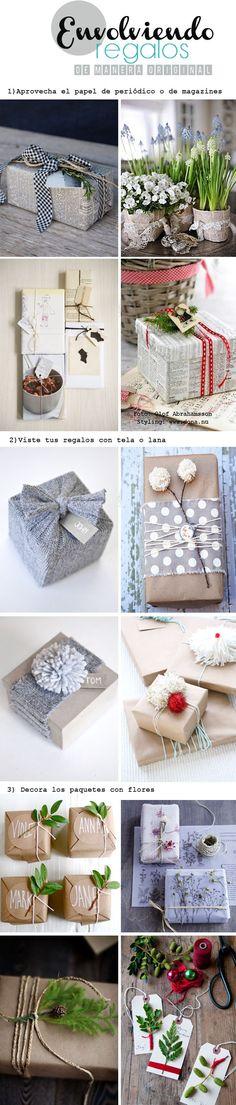 Envolviendo regalos de manera original