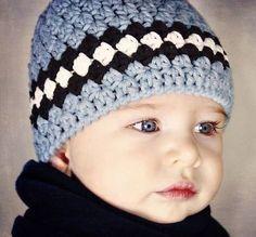 BEANIE FOR MEN AND WOMEN hat free #crochet pattern