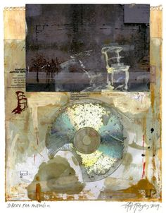 """Lars Pryds: """"Letter from Antoni"""", 2009. Collage."""