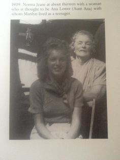 Norma Jeane - about 13 yrs old