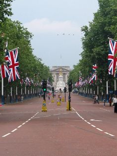 The Mall, the road in London running from Buckingham Palace at its western end to Admiralty Arch and on to Trafalgar Square at its eastern end