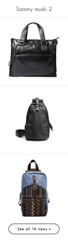 """""""Sammy muski 2"""" by merryyyyy-132 ❤ liked on Polyvore featuring bags, backpacks, block backpack, zipper backpack, zipper bag, zip bag and canvas zipper bag"""
