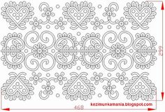 Hungarian Embroidery Patterns Hungarian folk pattern from Kalotaszeg, Transylvania. Hungarian Embroidery, Folk Embroidery, Learn Embroidery, Floral Embroidery, Chain Stitch Embroidery, Embroidery Stitches, Embroidery Patterns, Stitch Head, Embroidery Techniques