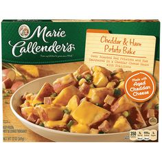 Find comfort in Marie Callender's Cheddar & Bacon Potato Bake. Savor the goodness of roasted red potatoes in a cheddar cheese sauce tonight! Microwave Dinners, Cheddar Cheese Sauce, Barbie Miniatures, Bacon Potato, Weird Food, Frozen Meals, Cold Meals, Aesthetic Food, Food Cravings