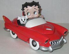 "Betty Boop & Pudgy Ceramic 7"" Car Trinket Box"