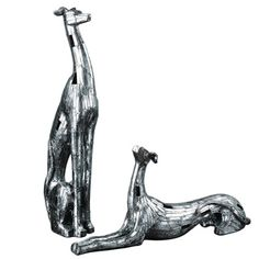 Resting Greyhounds Figurines (Set of 2)
