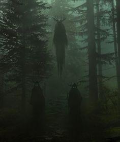 ancestors Imagen de dark, forest, and horror Dark Green Aesthetic, Witch Aesthetic, Arte Horror, Horror Art, Gothic Horror, Dark Fantasy Art, Arte Obscura, Slytherin Aesthetic, Creepy Art