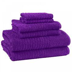 Cambridge Ultra Dry 6 Piece Towel Set - Regal Purple - GreyDock.com