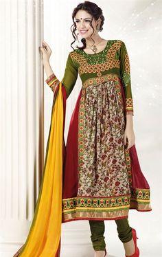 Multi Color Online Bollywood Salwar Kameez INVIVRAV9008 - www.indianwardrobe.com