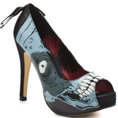 Iron Fist Womens Glow in the Dark Zombie Stomper Platform Shoes
