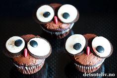 Oreo ugle-cupcakes | Det søte liv