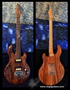 "Virgil Guitars #0 ""The Big Kahuna"" - this guitar is NOT for sale - I built it for myself! Carved Koa top - schweet! More info: http://www.virgilguitar.com/guitars/0_BigKahuna.html"