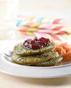 Pinaattiletut Finnish Spinach pancakes