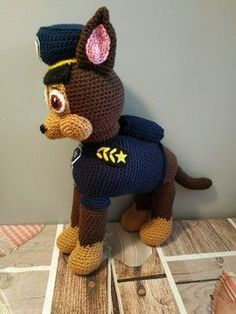 Paw Patrol, Chase Pat Patrouille, Voici, Crochet Hats, Photos, Baby, Products, Crochet Animal Amigurumi, Free Pattern