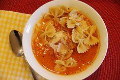 One of my favorites: Jessica Seinfeld's Turkey Meatball Soup...with super secret sweet potato puree