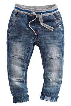 Boys Clothing Online | Clothes for Boys 3 Months to 6 Years - Next Check Trim Rib Waist Jeans (3mths-6yrs) - EziBuy Australia
