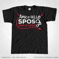 Magliette Addio al Celibato T-Shirt Matrimonio per gli Amici dello Sposo Diavoletto, Personalizza adesso! ->  http://www.gigiostore.it/prodotto/t-shirt-addio-celibato-amici-sposo-diavoletto/