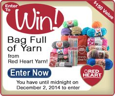 Enter to win an Epic Yarn Giveaway from Red Heart! #yourDIYxmas