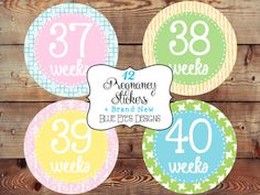 Baby Bump StickersPregnancy Tracking by blueeyesdesigns27 on Etsy