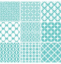 Abstract seamless patterns vector - by tiax on VectorStock®