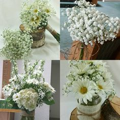 Babys Breath and Dasies Wedding Flowers