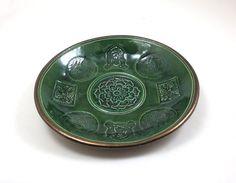 FAIRIES CELTIC Bowl Handmade Raku Pottery by DeBaunFineCeramics on Etsy
