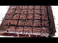Reteta Negresa de post - Cu 10 RON faci o tava intreaga (CC Eng Sub) Brownie Cake, Brownies, Brownie Recipes, Cake Recipes, No Cook Desserts, Raw Vegan, Food And Drink, Cooking Recipes, Lent