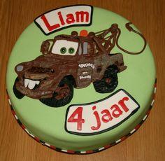 Takel van Cars voor Liam zijn 4e verjaardag