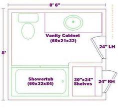 8x8 bathroom design floor plans