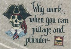 pirate cross stitch