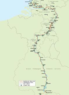 Afbeeldingsresultaat voor internationale maasfietsroute