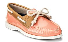 I think Sperry's have to be my favorite casual flats - these coral ones are too cute