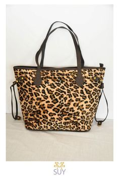 Suy Bags Leopard print tote  975php