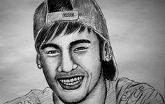 Neymar portrait Coloring page