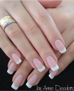 Elegant French Nails Bridal Wedding Tip Nail